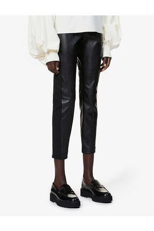 Ted Baker High-rise faux-leather trousers