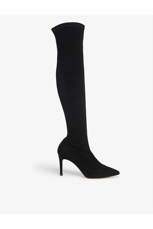 LK Bennett Blake stretch-suede above-the-knee boots
