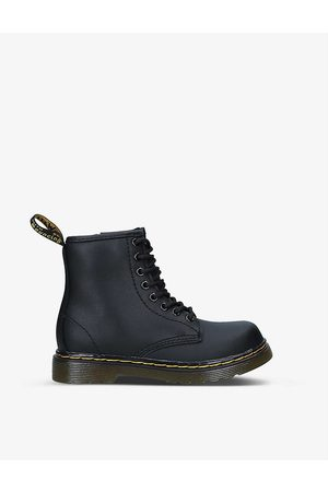 Dr. Martens Kids 1460 lace-up leather ankle boots 6-9 years