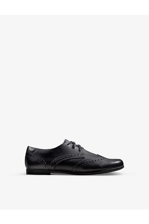 Clarks Kids Scala Lace Youth leather derby brogues 9-12 years