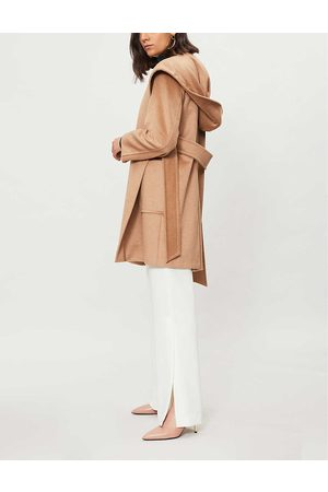 Max Mara Ladies Rialto Hooded Camel Hair Coat