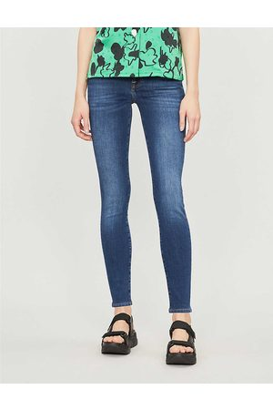 7 for all Mankind Women's Duchess Bair Super-Skinny Mid-Rise Jeans