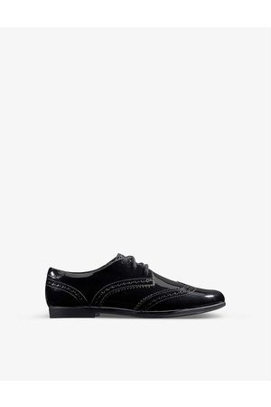 Clarks Kids Scala Lace Youth patent-leather derby brogues 9-12 years