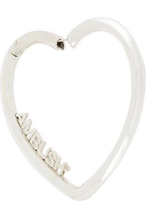 AMBUSH Heart hoop earrings