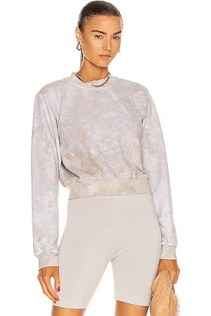 Cotton Citizen Milan Crew Neck Sweatshirt in Stone Crystal