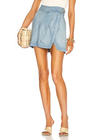 Noam Women Denim Skirts - Lucia Skirt in Biarritz.