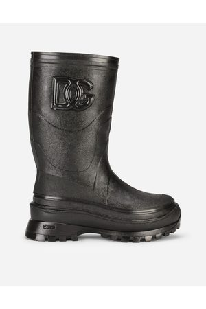 Dolce & Gabbana Men Boots - Boots - METALLIC RUBBER BOOTS WITH DG LOGO male 41