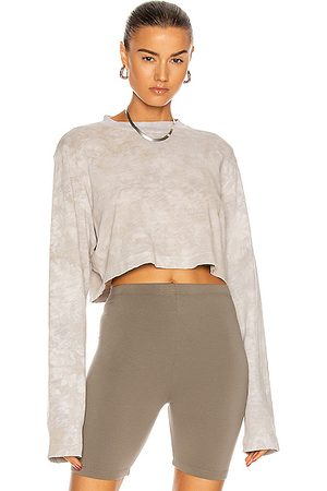 Cotton Citizen Tokyo Crop Long Sleeve Tee in Cashew Crystal