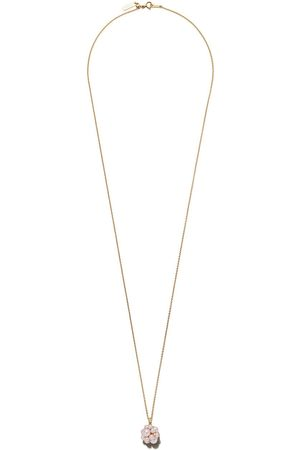 TASAKI 18kt yellow Akoya pearl and diamond pendant