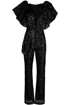 LOULOU Sequinned ruffled jumpsuit