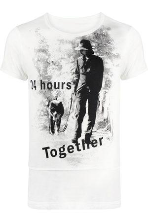 YOHJI YAMAMOTO Slogan-print cotton T-shirt