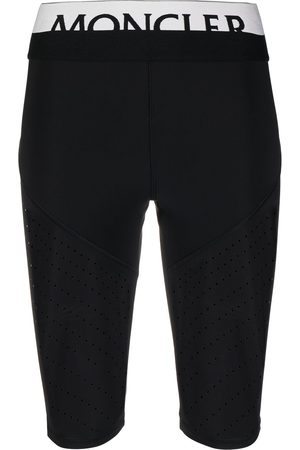 Moncler Logo waistband perforated cycling shorts