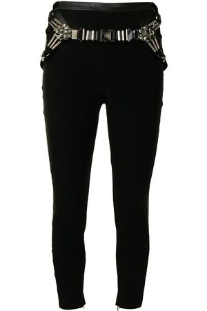 Gucci Women Skinny Trousers - Belted skinny trousers