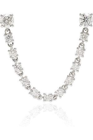 Anita 18kt white gold diamond earring - METALLIC
