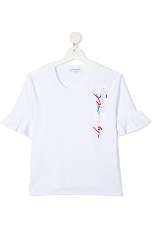 Givenchy TEEN embroidered logo cotton T-shirt