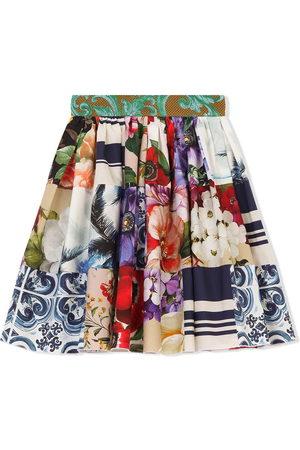 Dolce & Gabbana Multi-print flared skirt