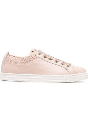 AGL ATTILIO GIUSTI LEOMBRUNI Suzie leather sneaker with elastic
