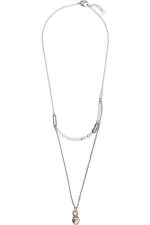 PORTS 1961 Pearl thin double chain necklace
