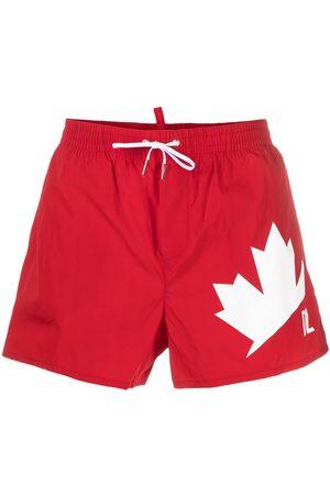 Dsquared2 Maple Leaf swim shorts