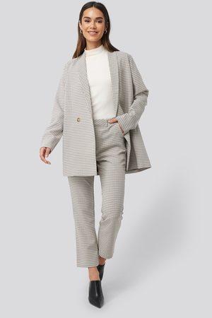 Rut & Circle Women Trousers - Maja Check Straight Pants - Multicolor