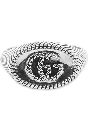 Gucci Gucci Chevron Marmont 12mm Ring