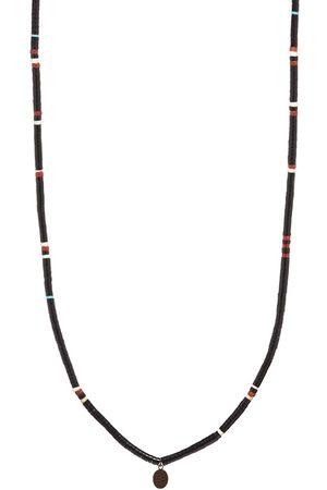 Mikia Tube Stone Suede Necklace