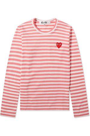Comme des Garçons Comme des Garcons Play Women's Long Sleeve Heart Stripe Tee