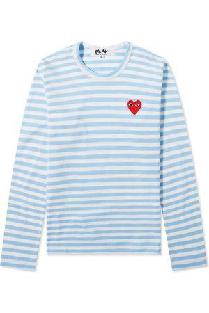 Comme des Garçons Men Long Sleeve - Comme des Garcons Play Women's Long Sleeve Heart Stripe Tee