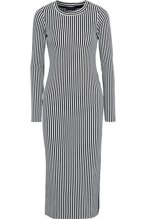 THE RANGE Women Midi Dresses - Woman Bound Striped Stretch-knit Midi Dress Size L
