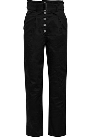THE RANGE Women Stretch Trousers - Woman Belted Stretch-cotton Twill Straight-leg Pants Size L