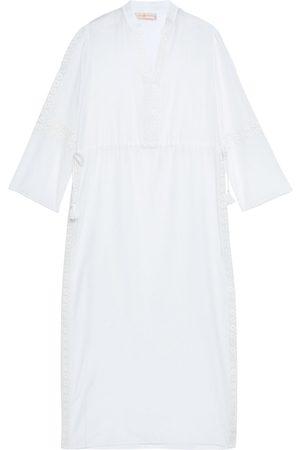 Tory Burch Women Beach Dresses - Woman Guipure Lace-trimmed Cotton And Silk-blend Mousseline Coverup Size L