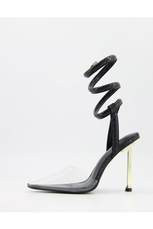 SIMMI Shoes Simmi London Tiona heeled shoes with spiral straps in
