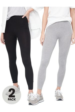 Very Women Trousers - 2 Pack High Waisted Leggings - /