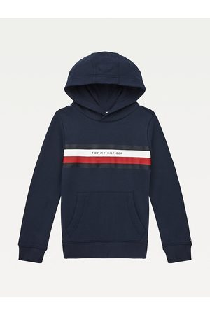 Tommy Hilfiger Boys Sweatshirts - Pure Cotton Signature Detail Hoody