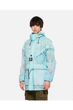 Stone Island Lamy GD reflective hooded jacket size L