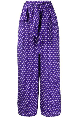 Kenzo Abstract print palazzo trousers