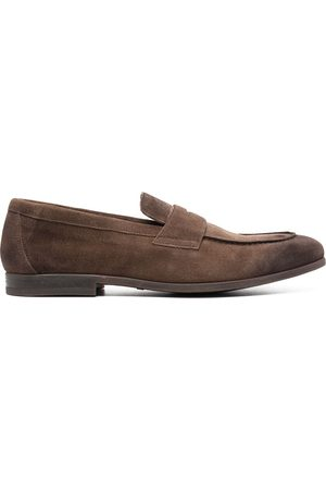 Doucal's Suede penny loafers