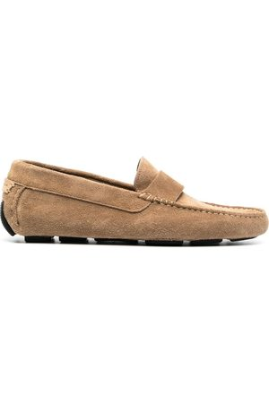 HENDERSON BARACCO Segmented-sole suede loafers - Neutrals