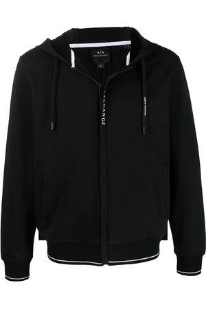 Armani Logo-print zip-up hoodie
