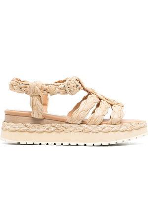Paloma Barceló Urubu raffia sandals - Neutrals