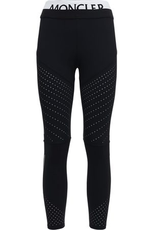 Moncler Logo Stretch Jersey Leggings