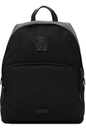 VERSACE Nylon Backpack W/medusa Hardware