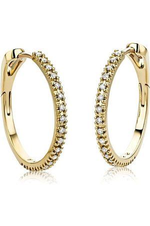 DIAMADA Earrings - 18KT 0.18ct Diamond Creole Earring - - Earrings for ladies
