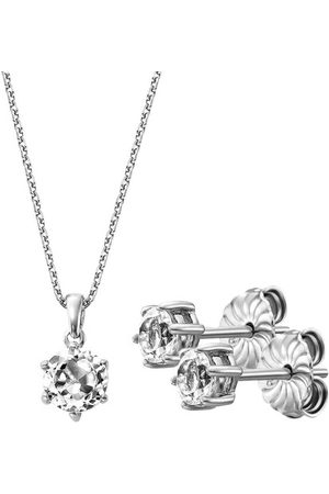 BELORO Necklaces - Set Necklace And Earring White Topaz - - Necklaces for ladies