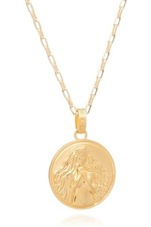 Rachel Jackson Necklaces - Statement Virgo Zodiac Art Coin Long Necklace - - Necklaces for ladies