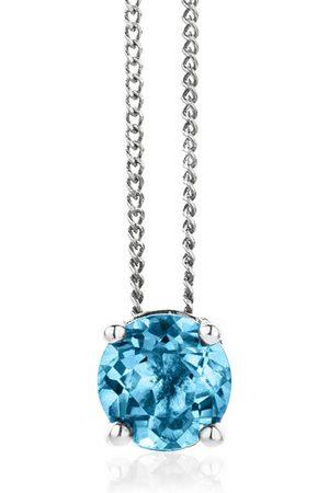DIAMADA Necklaces - 14KT Blue Topaz Necklace - - Necklaces for ladies