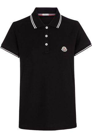 Moncler Women Polo Shirts - Cotton piqué polo shirt