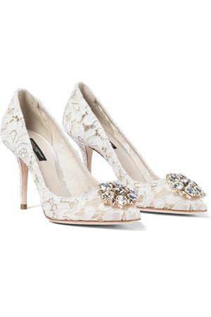 Dolce & Gabbana Belluci embellished lace pumps