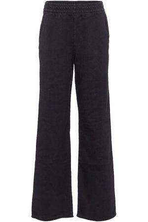 Acne Studios Wide-leg cotton trackpants