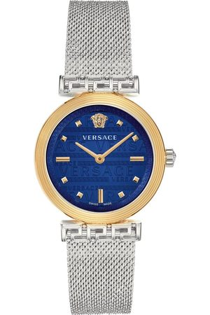 VERSACE Greca Motiv Ladies Dial Stainless Steel Bracelet Watch